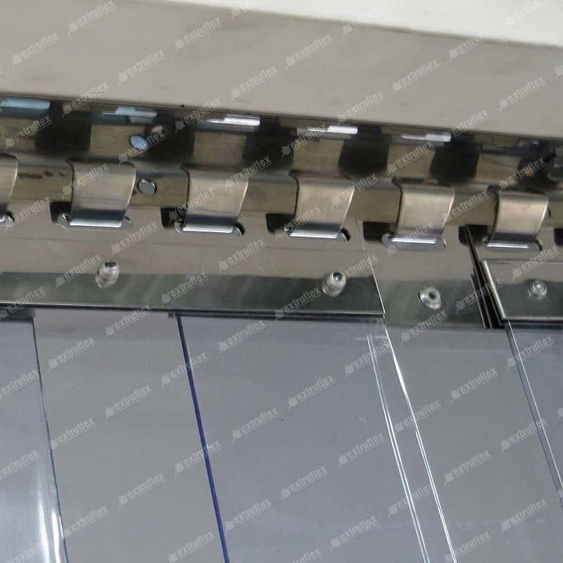 Stainless Steel Hook-on-Rails and Plate Sets for PVC strips