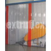 300mm x 3mm PVC Strip Curtain - 1000mm Wide x 2000mm High Partial Overlap