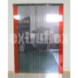 200mm x 2mm PVC Strip Curtain - 1500mm Wide x 2500mm High Full Overlap